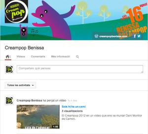 Portada Canal Youtube Creampop Benissa