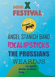 Ángel Stanich Band, Idealipsticks, The Prussians i WEAR dj's encapçalen l'edició d'enguany.